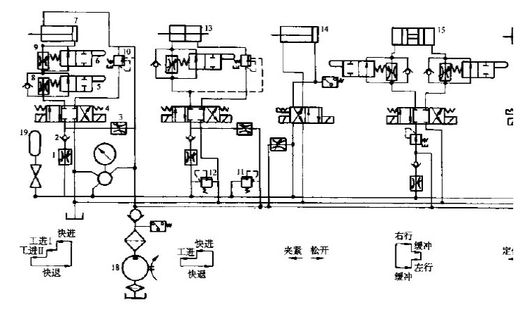 加工中心,龙门磨床,龙门铣床,镗床,卷平线,折弯机等液压系统原理图,是图片